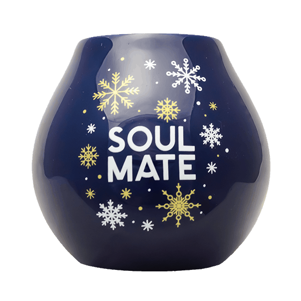 Ceramic Gourd Soul Mate - winter edition - navy blue