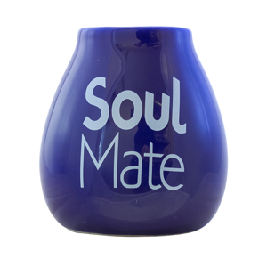 Mate cup ceramic blue - Soul Mate - 350ml
